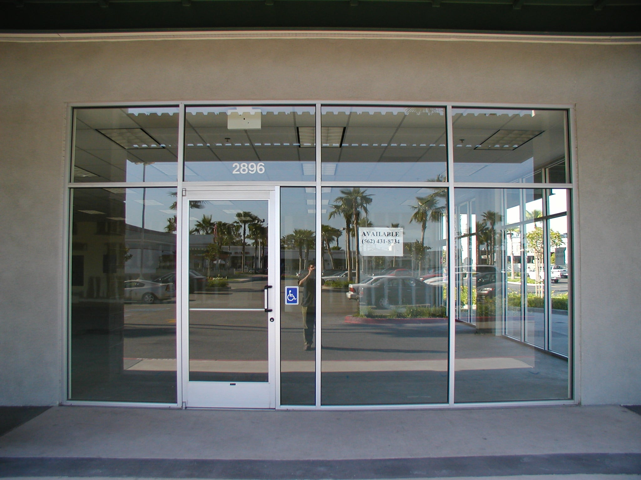 Glass Door Store : Store fronts harbor all glass mirror inc