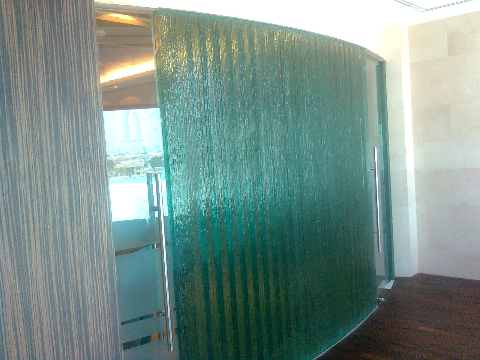 Partition glass harbor all glass mirror inc - Bathroom glass partition designs ...